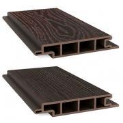 Террасная доска ДПК Savewood SW Padus Темно-коричневый (R) 155х25 мм (1 м.п.)