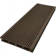 Террасная доска ДПК М-пласт 146х23 мм Вельвет односторонняя Шоколад