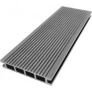 Террасная доска ДПК М-пласт 140х28 мм Вельвет односторонняя Серый дым