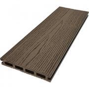 Террасная доска ДПК М-пласт 146х23 мм Текстура дерева односторонняя Шоколад