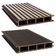 Террасная доска ДПК Savewood SW Ulmus Темно-коричневый 148х26 мм (1 м.п.)