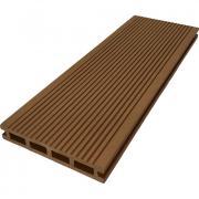 Террасная доска ДПК М-пласт 146х23 мм Вельвет односторонняя Какао