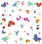 Радужные насекомые набор наклеек на стену для декора комнаты ROOMMATES RMK1021SCS