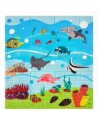 Мягкая самоклеящаяся панель для стен LAKO DECOR, 70*77 см. (3d панель для стен), коллекция Детская комната, цвет Мир океана