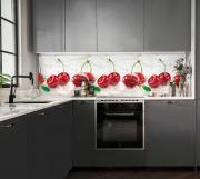 Кухонный фартук АБС Ледяная вишня (600*3000*1,5мм) STELLA