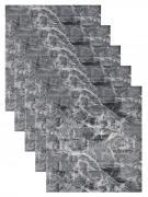 """""""Кирпич мрамор черно-белый"""" 5 шт. мягкие 3Д самоклеющиеся панели на стену под кирпич 700*770*4 мм для внутренней отделки влагостойкие модные обои"""