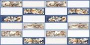 """Стеновая панель ПВХ """"Плитка Цветы акварель"""" 955*480 (20 шт)"""