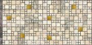 Панели ПВХ / Панели пвх для стен Мозаика Мрамор с золотом 955х480 мм, 4шт.