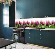 Кухонный фартук АБС Тюльпаны (600*3000*1,5мм) STELLA
