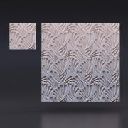 Стеновая гипсовая 3d панель «Растения»