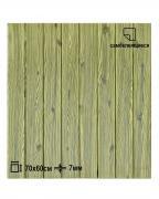 Мягкая самоклеящаяся панель для стен LAKO DECOR, 70*60 см. (3d панель для стен), коллекция Дерево, цвет Зеленый микс