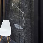 Панель МДФ черный дымчатый плитка 10х10 влагостойкая 2440х1220х3 Стильный дом