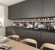 Кухонный фартук АБС Гляссе - Капучино (600*3000*1,5мм) STELLA