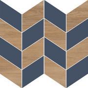 Декор Meissen Вставка Love You Navy мозаика A сатиновая синий 29x29