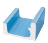 Поручневый переливной водоотводный канал SERAPOOL - 1 23,8х25 см /св.-голубой/, шт