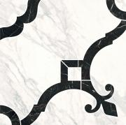 Керамогранит Kerama Marazzi Фрагонар ID88 Декор Наборный Белый 1/4 розона 30х30