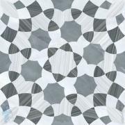 *Керамогранитная плитка VITRA Serpeggiante Декор Геометрия (600х600) холодная гамма K947864LPR(кв.м.