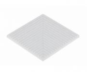 Прямоканальный угловой элемент SERAPOOL 12,5х12,5 см /Без глазури/, шт