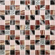 Плитка мозаика из стекла Natural mosaic 30x30 см, размер чипа 2,3x2,3 см