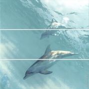 *Панно KERAMA MARAZZI Искья (750х750) дельфины HGD\A55\3x\12093R (комплект)