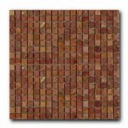 Мозаика из натурального камня Art&Natura Marble Mosaic Red Travertine (плитка 15x15 мм), лист 305x305 мм (0,47 m2/упак.) Art&Natura Marble Mosaic Red Travertine