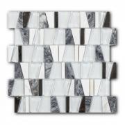 Смесь из стекла и натурального камня Art&Natura Boston Luckman, лист 300x300 мм
