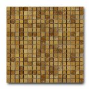 Мозаика из натурального камня Art&Natura Marble Mosaic Travertino Giallo (плитка 15x15 мм), лист 305x305 мм (0,47 m2/упак.) Art&Natura Marble Mosaic Travertino Giallo