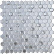 Мозаика стеклянная Alchimia Argento grani hexagon 23х16х6 (300х300х6) (шт.)