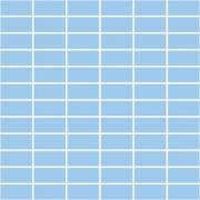 Фарфоровая мозаика SERAPOOL 2,5х5 см /голубой/, м2