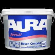 Адгезионный грунт для слабо впитывающих оснований AURA Special Beton Contakt (Аура Спешл Бетон Контакт) 14 кг