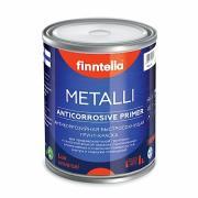 Грунт-краска алкидная METALLI 3 в 1 Универсал ANTICORR Полуматовая (база А) Finntella 2,7л (3,16кг)