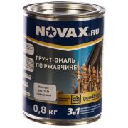 Грунт-эмаль goodhim novax 3в1 желтый ral 1021, глянцевая, 0,8 кг 10724