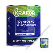 Грунтовка ГФ-021 KRAFOR красно-коричневый 0,8 кг