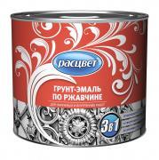 """Грунт-эмаль по ржавчине алкидная """"РАСЦВЕТ"""" зеленая-темно 1.9 кг"""