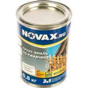 Грунт-эмаль goodhim novax 3в1 темно-коричневый ral 8017, глянцевая, 0,8 кг 10762