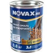 Грунт-эмаль goodhim novax 3в1 темно-зеленый ral 6026, матовая, 0,8 кг 10830