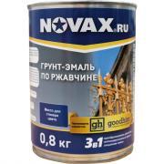 Грунт-эмаль goodhim novax 3в1 темно-зеленый ral 6026, глянцевая, 0,8 кг 10755