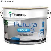 Teknos Futura Aqua 3 Матовая адгезионная грунтовка (банка 9л)
