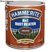 Хаммерайт Rust Beater черный. Грунт антикоррозийный для черных металлов. (банка 2,5 л)