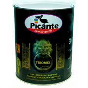 Грунт-эмаль по ржавчине 3в1 picante triomix полуматовая ral 6005 темно-зеленая 0,75кг 10520-6005.bb