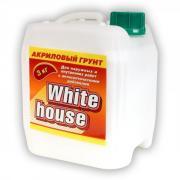 Акриловая грунтовка для наружных и внутренних работ WHITE HOUSE 3 кг (Белый) Глубокопроникающая