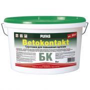 Грунтовка для повышения адгезии пуфас бетоконтакт бк для внутренних работ мороз. тов-102138