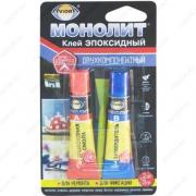 AVIORA МОНОЛИТ 403-217 Эпоксидный клей, комплект: (смола 3г+ затвердитель 3г) BL1