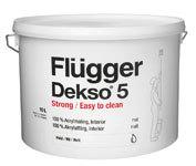 Водоэмульсионная краска Flugger Dekso 5 матовая акриловая объем 0,75л л.