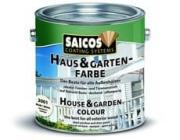 Saicos (Сайкос) Краска для дерева для наружных и внутренних работ Haus & Garten-Farbe - 2669 Английский зелёный, 0.125 л, Производитель: SAICOS