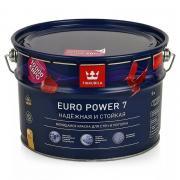 Краска Евро 7 Тиккурила Водоэмульсионная для стен и потолков объем 2,7л л.