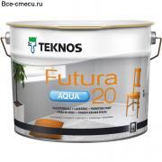 Teknos Futura Aqua 20 Краска универсального применения (банка 9л)