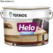 Teknos Helo Aqua 20 Полуматовый водоразбавляемый специальный лак (банка 9л)