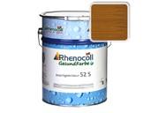 Лак фасадный Rhenocoll Impragnierlasur 52S c защитой от синевы, золотистый тик, шелковисто-глянцевый 1л