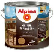 Масло для террас Alpina (светлый) 2,5 л.